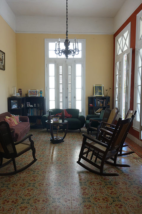 The living room with traditional furniture