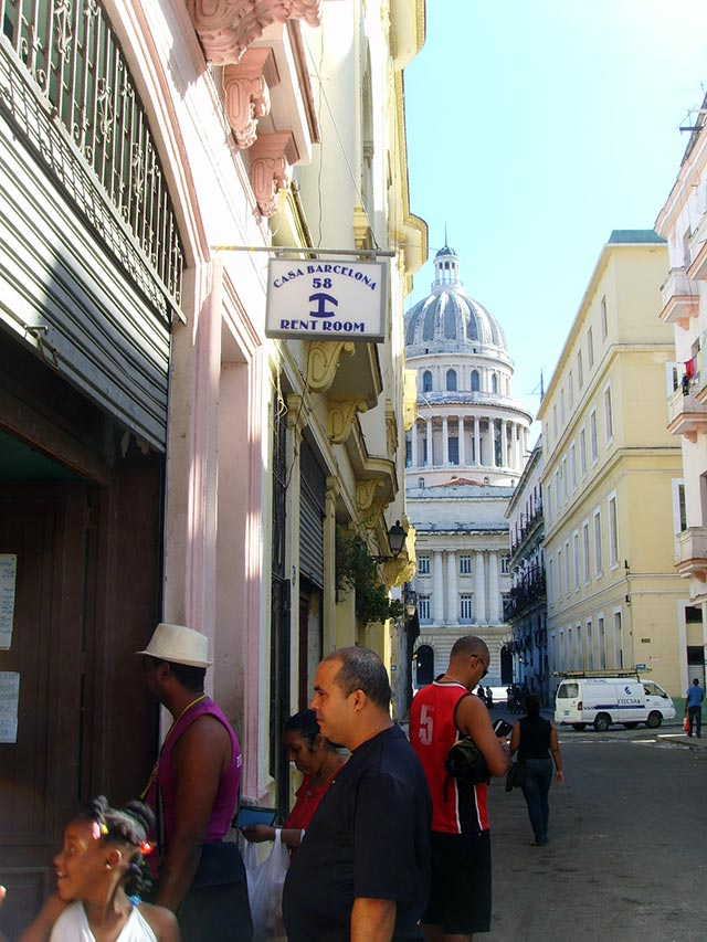Casa Barcelona 58 is located right beside the Havana Capitol, traditionally the head of the Cuban Government