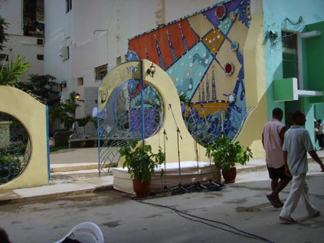 Casa Barcelona 58, in the middle of Centro Habana neighborhood. It has a park across the street