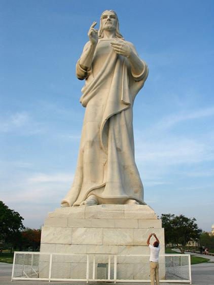 Front view of the Havana Christ statue