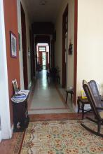 Art Deco House has a great corridor that goes through all the house